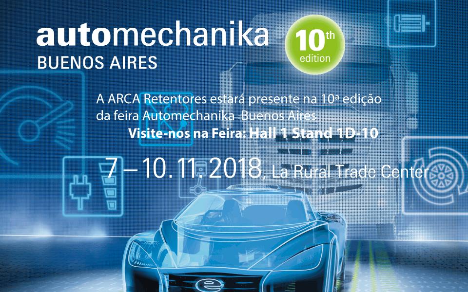 A ARCA Retentores participará da 10ª edição da Automechanika Buenos Aires