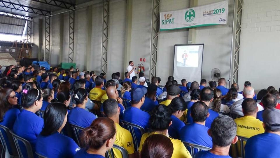 16ª SIPAT - Semana Interna de Prevenção de Acidentes do Trabalho.