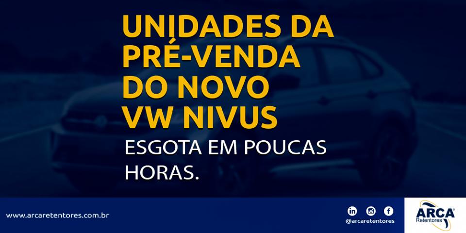 Pré-venda do novo VW Nivus esgota em poucas horas.
