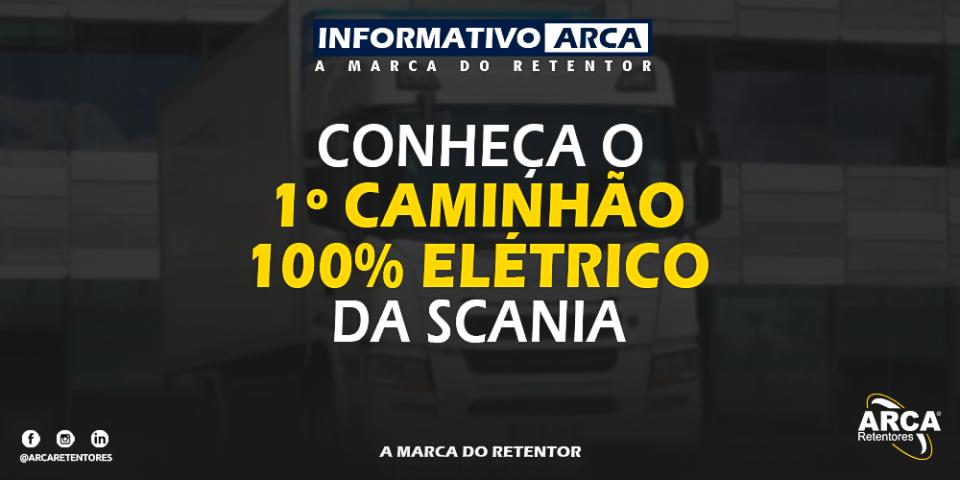 Scania apresenta seu 1º caminhão 100% elétrico.